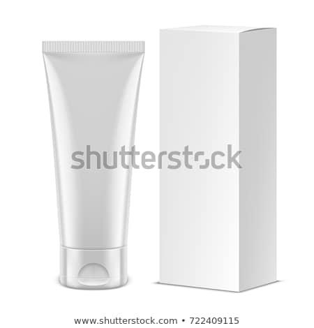 Branco creme dental creme tubo caixa Foto stock © Akhilesh