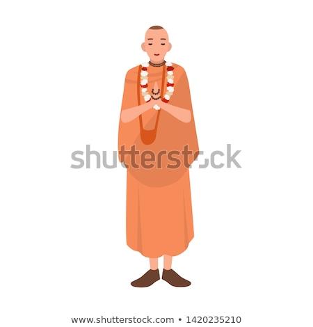Sacerdote piedi pregando nero uomo Foto d'archivio © deandrobot