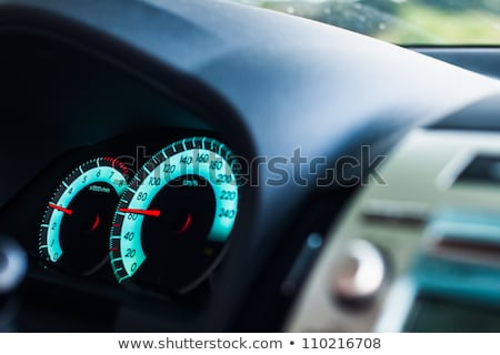 sports car dashboard at night stock photo © digifoodstock