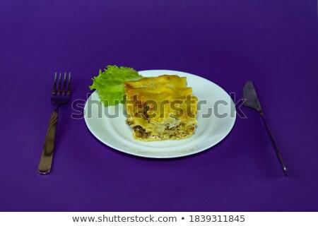 Lasagne vers salade Stockfoto © Digifoodstock