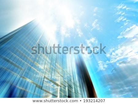 抽象的な · 家 · 青空 · ビジネス · 男 - ストックフォト © meinzahn