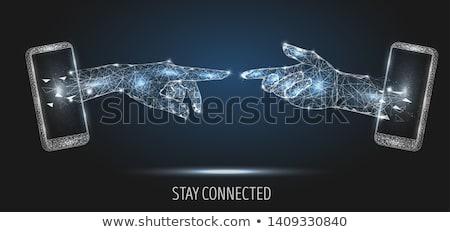 wereld · telefoon · cel · smart · mobiele · 3D - stockfoto © fenton