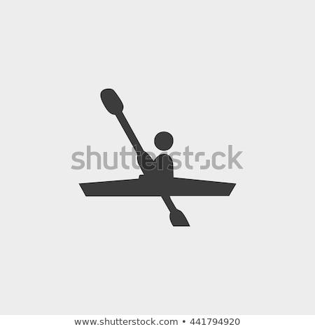 Kajakozás ikon színek illusztráció sport terv Stock fotó © bluering