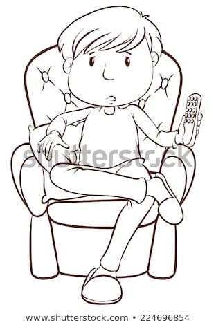 viendo · ilustración · algo · relajarse · adolescente - foto stock © bluering