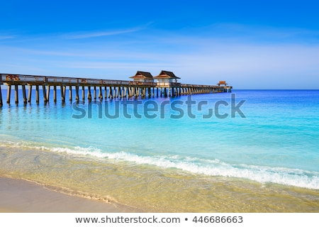Foto stock: Nápoles · praia · Flórida · EUA · azul