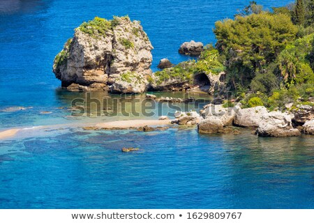 Rock sicilië gekleurd Rood Geel witte Stockfoto © Hofmeester