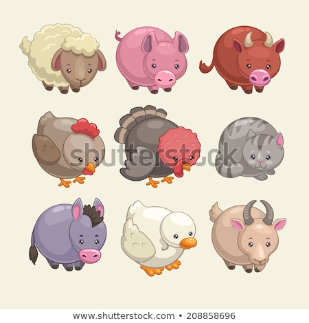 Donkey Stylized Drawing Illustration Vector Stock photo © doddis