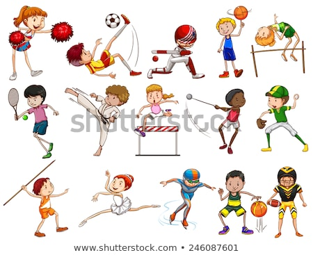 Kids engaging in different outdoor sports Stock photo © bluering