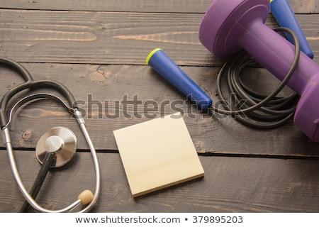 élet fa asztal szó iroda gyermek egészség Stock fotó © fuzzbones0