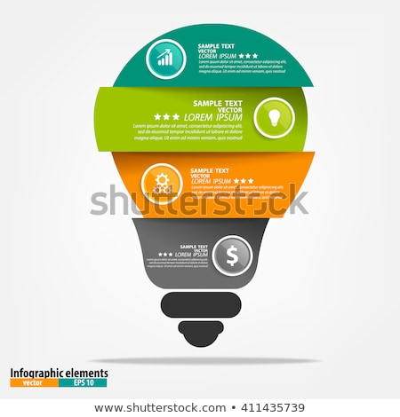 Stock photo: arrow circle with light bulb logo concept