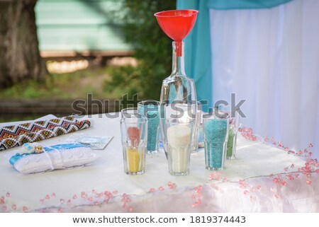 glass of mixed colour unity sands Stock photo © morrbyte