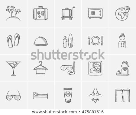 rajz · fehérnemű · melltartó · bugyik · háttér · vásárlás - stock fotó © rastudio
