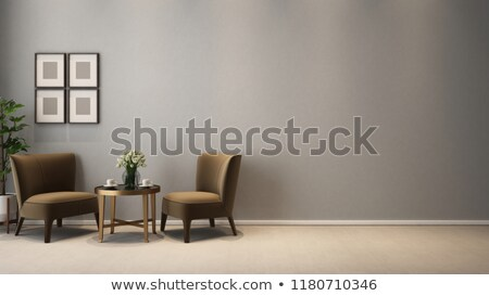 Stock photo: sofa and two armchairs. An interior. 3D image.