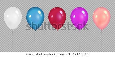 Ingesteld heldere kleurrijk ballonnen geïsoleerd witte Stockfoto © Evgeny89