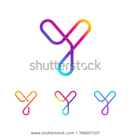 Logo Shapes and Icons of Letter Y stock photo © cidepix