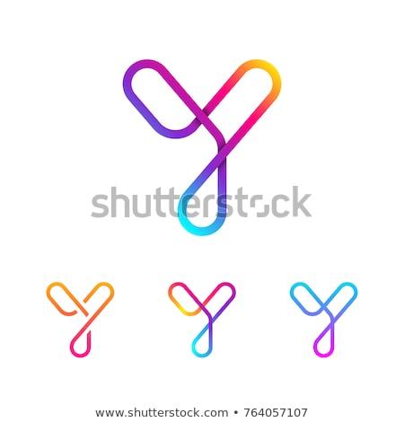 logo · simgeler · mektup · dizayn · renkli - stok fotoğraf © cidepix