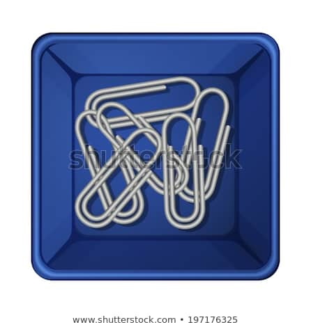 a topview of the paperclips inside a container stock photo © bluering