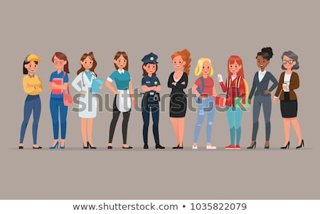 Ladies with different professions Stock photo © bluering