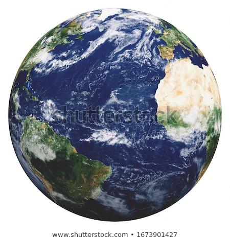 Planeten Erde weiß Welt Hintergrund Ball Planeten Stock foto © bluering