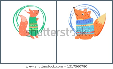 Christmas Background with Hand Made Toy Squirrel Stock photo © dariazu