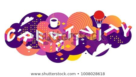 装飾的な · 要素 · 言葉 · ビジネス · タイポグラフィ - ストックフォト © Vanzyst