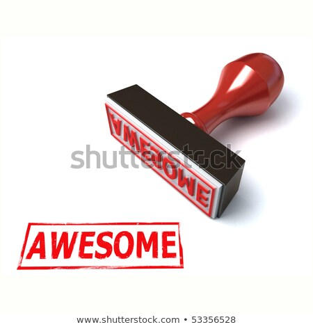 Awesome rubber stamp Stock photo © IMaster