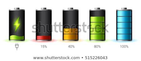 Vol batterij icon witte computer ontwerp Stockfoto © smoki