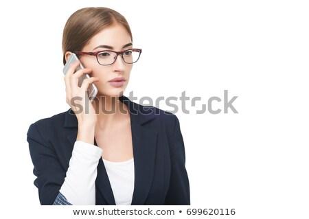 beautiful businesswoman talking on cellphone stock photo © ssuaphoto