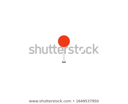 Vector push pin round flat icon Stock photo © blumer1979