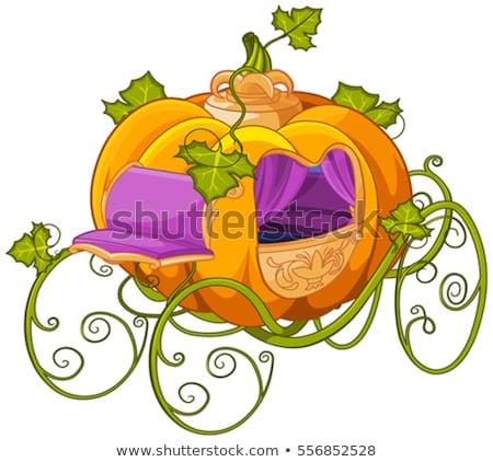 pumpkin turn into a carriage for cinderella stock photo © dazdraperma