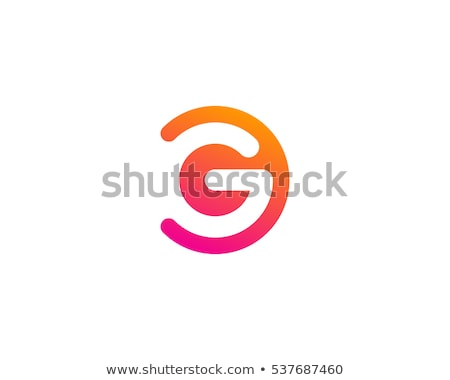 colorful abstract logo with letter g stock photo © sarts