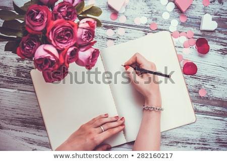 Kadın yazı sevmek mektup romantik şiir Stok fotoğraf © stevanovicigor
