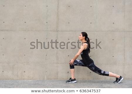 full length warming up runner stock photo © deandrobot