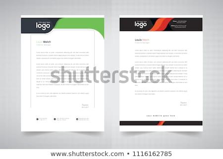 Sauber Briefkopf Design abstrakten Muster Business Stock foto © SArts