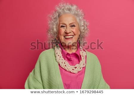 zarif · kadın · portre · gülen · kıdemli - stok fotoğraf © ambro