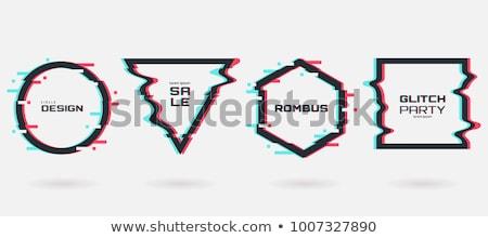 vektor · digitális · kép · adat · tv · képernyő - stock fotó © sarts