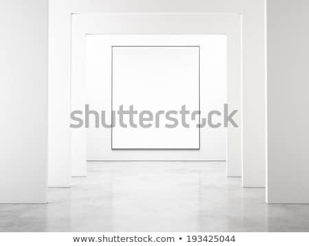Blank picture frame on art gallery concrete wall Stock photo © stevanovicigor