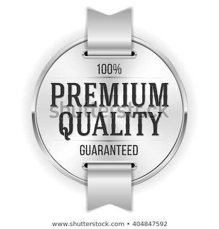 satisfação · garantir · prata · etiqueta · distintivo · negócio - foto stock © SArts