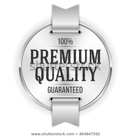 satisfaction guarantee silver label and badge stock photo © SArts