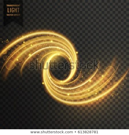 vecteur · transparent · vague · lumière · effet · or - photo stock © sarts