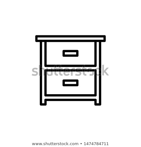 chest of drawers icon stock photo © angelp