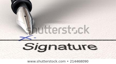 Signature X And Fountain Pen Stock photo © albund