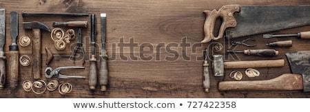 öreg · famunka · ácsmesterség · szerszámok · fából · készült · fa - stock fotó © shutter5