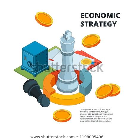 chess figures isometric vector illustration stock photo © kup1984