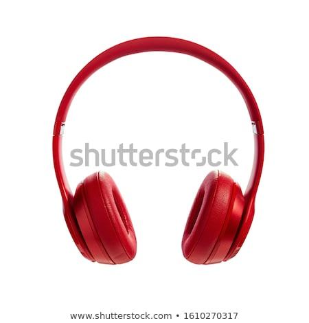 amor · música · fones · de · ouvido · texto · isolado · branco - foto stock © masay256