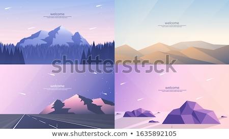 pusty · drogowego · pustyni · gruntów · ilustracja · krajobraz - zdjęcia stock © bluering