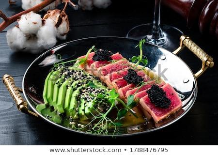 grilled tuna fish Stock photo © M-studio
