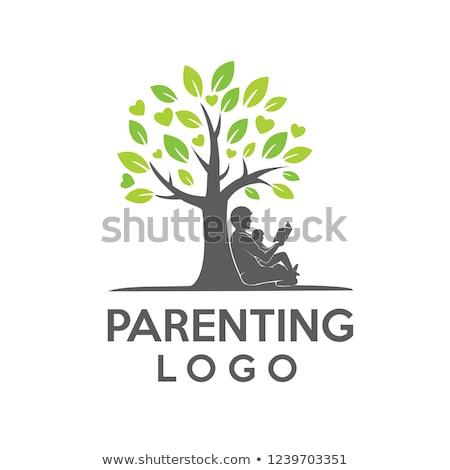 Család fa gyereknevelés logo ikon szimbólum Stock fotó © gothappy