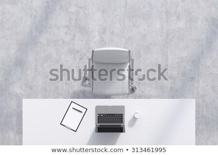 белый · пластиковых · стульев · фото · пусто · местный - Сток-фото © ca2hill