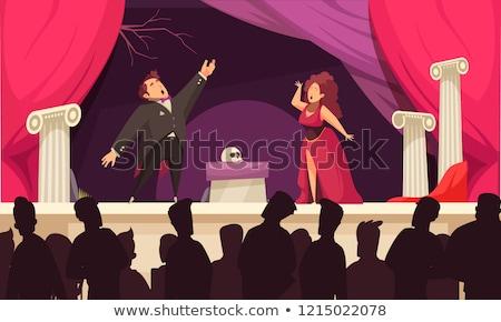 Stockfoto: Fase · theater · sofa · mannelijke · lifestyle · permanente